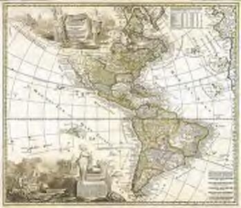 Americæ tam septentrionalis quam meridionalis in mappa geographica delineatio