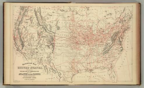 Railroad map U.S.