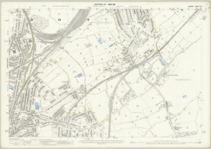 London (Edition of 1894-96) CLV (includes: Croydon St John The Baptist) - 25 Inch Map