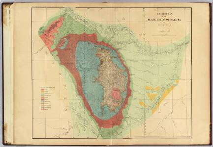 Geological map of the Black Hills of Dakota.