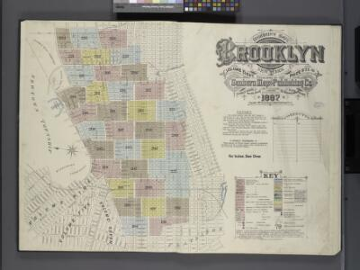 Insurance Maps of the Brooklyn city of New York Volume Eight. Published by the Sanborn map co. 117, Broadway, New York. 1887.