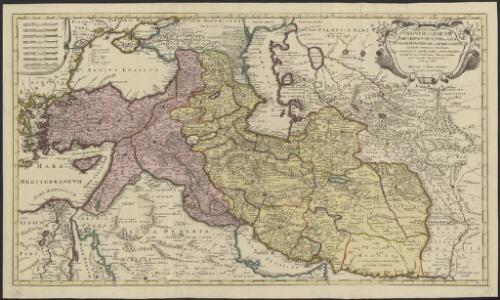 Regnum Persicum imperium Turcicum in Asia Russorum provinciae ad mare Caspium aliaeque regiones finitimae, item ponti Euxini, maris Caspii, ac sinus Persici novissimae ac fidelissimae delineationes