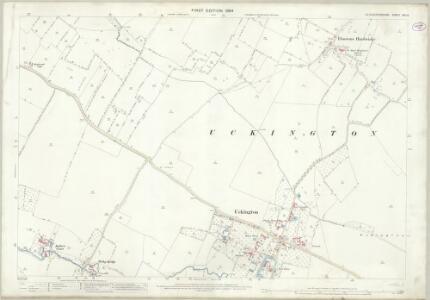Gloucestershire XIX.14 (includes: Boddington; Elmstone Hardwicke; Uckington) - 25 Inch Map