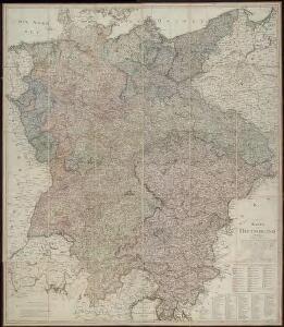Karte von Deutschland, in IV Blättern entworfen im Jahre 1805, und nach den, durch die Bundesacte der Reinschen Conföderation, datirt Paris vom 12ten Julius 1806, ingleichen nach den, durch die verschiedenen Tausch- und Pacifications Verträge