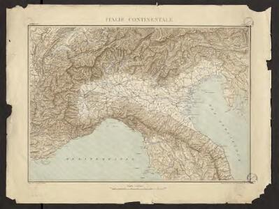 Géographie. croquis n1, Italie continentale