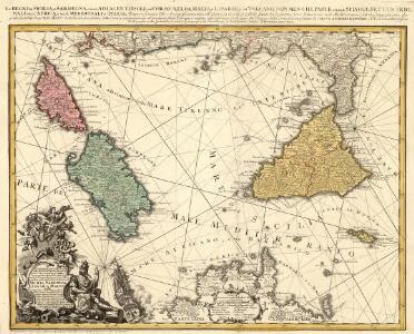 Li Regni di Sicilia, e Sardegna, colle adiacenti Isole di Corsica, Elba, Malta, e Liparee, o di Vulcano, non men che Parte delle Spiagge Settentrionali dell'Africa, e delle Meridionali d'Italia;