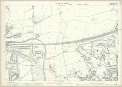 London (Edition of 1894-96) LVII (includes: Acton; Ealing St Mary) - 25 Inch Map