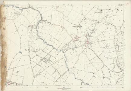 Shropshire LXV.10 (includes: Abdon; Clee St Margaret; Heath; Tugford) - 25 Inch Map