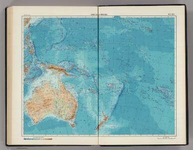 233-234.  Australia, Oceania, Physical.   The World Atlas.