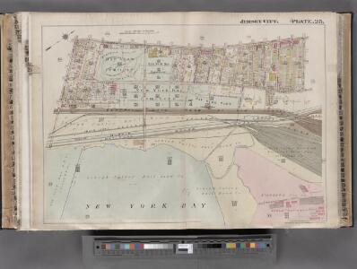 Jersey City, V. 1, Double Page Plate No. 25 [Map bounded by Ocean Ave., bay view Ave., New York Bay, Linden Ave.] / compiled under the direction of and published by G.M. Hopkins Co.