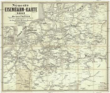 Neueste Eisenbahn-Karte von Deutschland und den angrenzenden Ländern