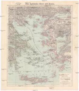 Das Ägäische Meer mit Kreta