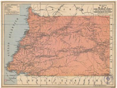 Mapa del Muni : Guinea continental española