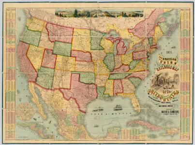 American Union Railroad Map Of The United States.