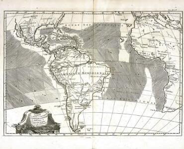 Carte pour servir a l'histoire philosophique et politique des etablissemens et du commerce des Européens dans les deux Indes