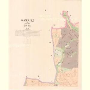Gamnitz - c2820-1-001 - Kaiserpflichtexemplar der Landkarten des stabilen Katasters