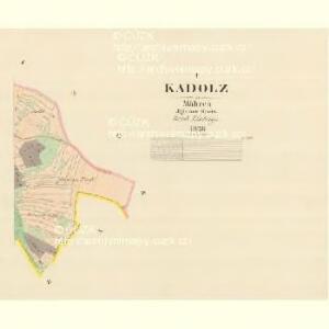 Kadolz - m1131-1-002 - Kaiserpflichtexemplar der Landkarten des stabilen Katasters