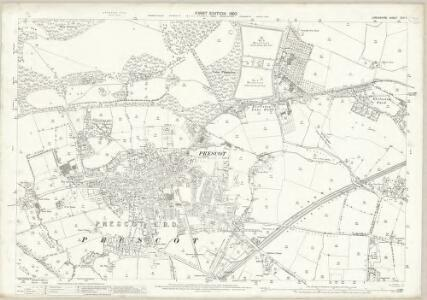 Lancashire CVII.7 (includes: Eccleston; Knowsley; Prescot; St Helens; Whiston) - 25 Inch Map