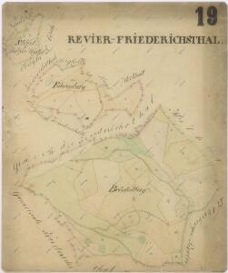 Mapy lesních porostů svěřeneckého panství Kout - revír Chalupy