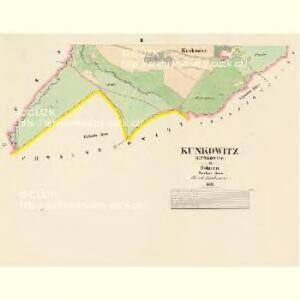 Kunkowitz (Kunkowice) - c3711-1-002 - Kaiserpflichtexemplar der Landkarten des stabilen Katasters