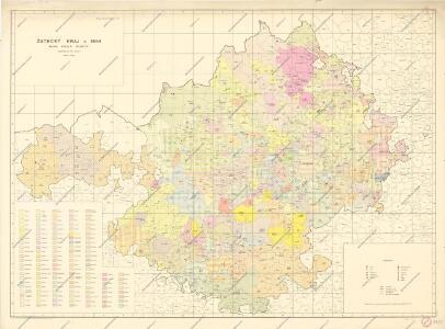 Žatecký kraj, mapa podle panství