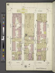 Manhattan, V. 2, Plate No. 41 [Map bounded by 6th Ave., W. 20th St., 5th Ave., W. 17th St.]