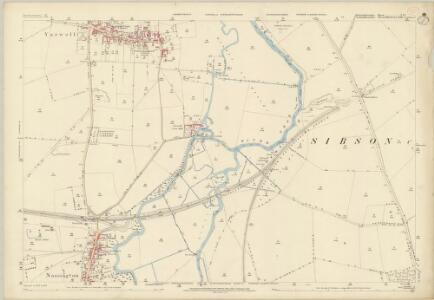 Huntingdonshire I.15 (includes: Elton; Nassington; Sibson cum Stibbington; Yarwell) - 25 Inch Map