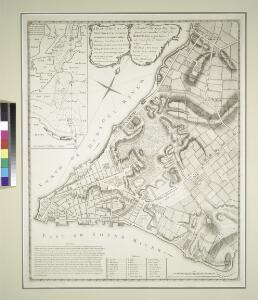 A plan of the city of New-York & its environs : to Greenwich, on the North or Hudsons River, and to Crown Point, on the East or Sound River, shewing the several streets, publick buildings, docks, fort & battery, with the true form & course of the command