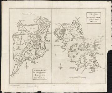 A new and accurate plan of the town of Boston in New England; A new plan of Boston Harbor from an actual survey