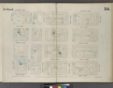 Plate 38: Map bounded by Hamersley Street, Varick Street, Spring Street, West Street.