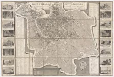 Pianta della citta di Roma : con la indicazione di tvtte le antichita e nvovi abbellimenti nell anno MDCCCXXXII