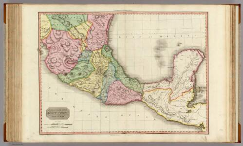 Spanish dominions in North America, middle part.