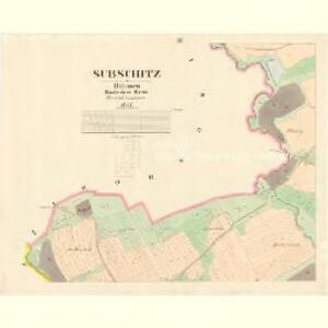 Subschitz - c9296-1-003 - Kaiserpflichtexemplar der Landkarten des stabilen Katasters