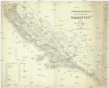 Strassen-Karte des Königreichs Dalmatien
