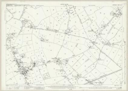 Lancashire CIX.10 (includes: Croft; Poulton With Fearnhead; Woolston) - 25 Inch Map