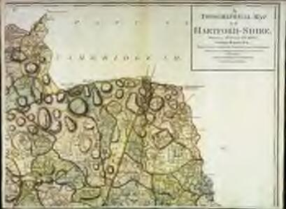 A topographical map of Hartford-Shire, 3