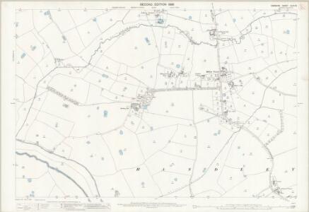 Cheshire XLVII.13 (includes: Coddington; Golborne Bellow; Golborne David; Handley; Lea Newbold) - 25 Inch Map