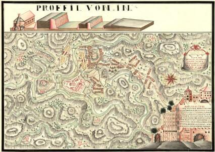 Plan der Batalie bei Beroschan in der Walachai samt den Drei Mahlichen Stvrm den 26. Jvli 1739