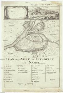 Plan de la ville et citadelle de Namur