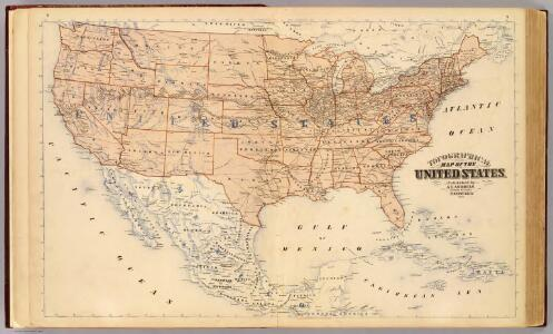 Topographical map of the United States.