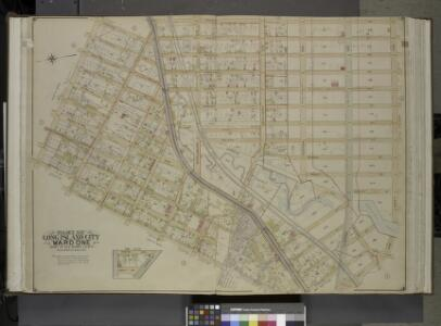 Queens, Vol. 2, Double Page Plate No. 3; Part of Long Island City Ward One (Part of Old Wards Two, Three and Four); [Map bounded by    Van Pelt St., Nott Ave., Creek St., Meadow St., Purves St., Hunter Ave.,         Prospect St.; Including Webster Ave
