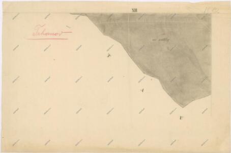 Katastrální mapa obce Trhanov