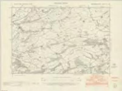 Montgomeryshire XV.SW - OS Six-Inch Map