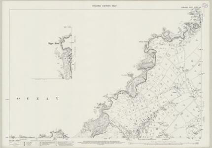 Cornwall XLVII.12 & 8 (includes: Perranzabuloe; St Agnes) - 25 Inch Map