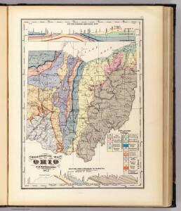 Geological map of Ohio.