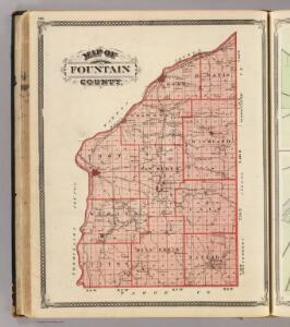 Map of Fountain County.