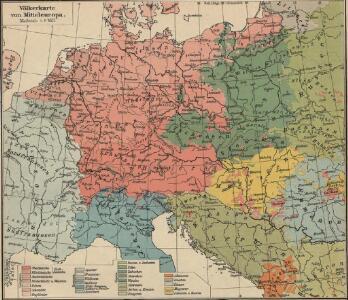 Völkerkarte von Mitteleuropa