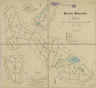 Mapa lesních cest v polesí Domanín 1