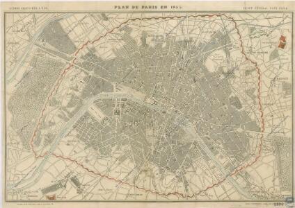 Plan de Paris en 1855