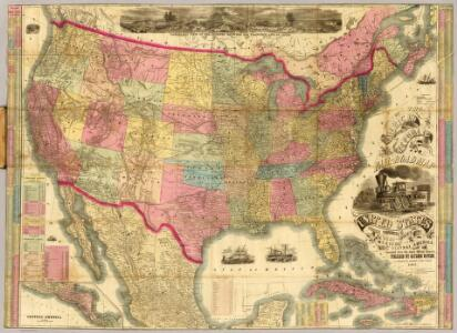 The American Republic and rail-road map of the United States.